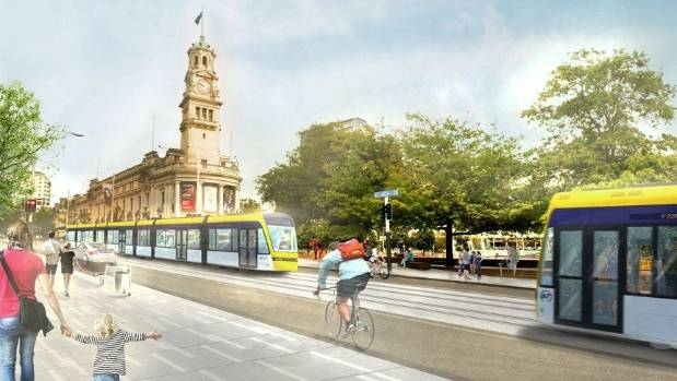 Auckland Transport is currently looking into introducing light rail onto the city's streets.