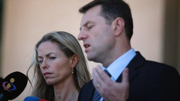 Gerry and Kate McCann, the parents of missing British girl Madeleine McCann.