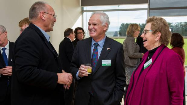 Ngai Tahu chairman Mark Solomon, former ECan comissioner Donald Couch, and chair of the commissioners Dame Margaret ...