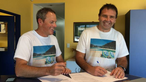 Buy the beach campaigners Adam Gard'ner and Duan Major signed, sealed and delivered New Zealand's tender for the beach ...