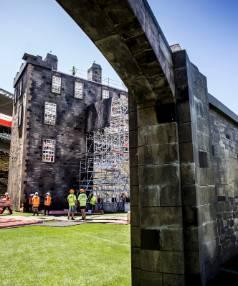 Edinburgh Tattoo's castle is nearly complete.