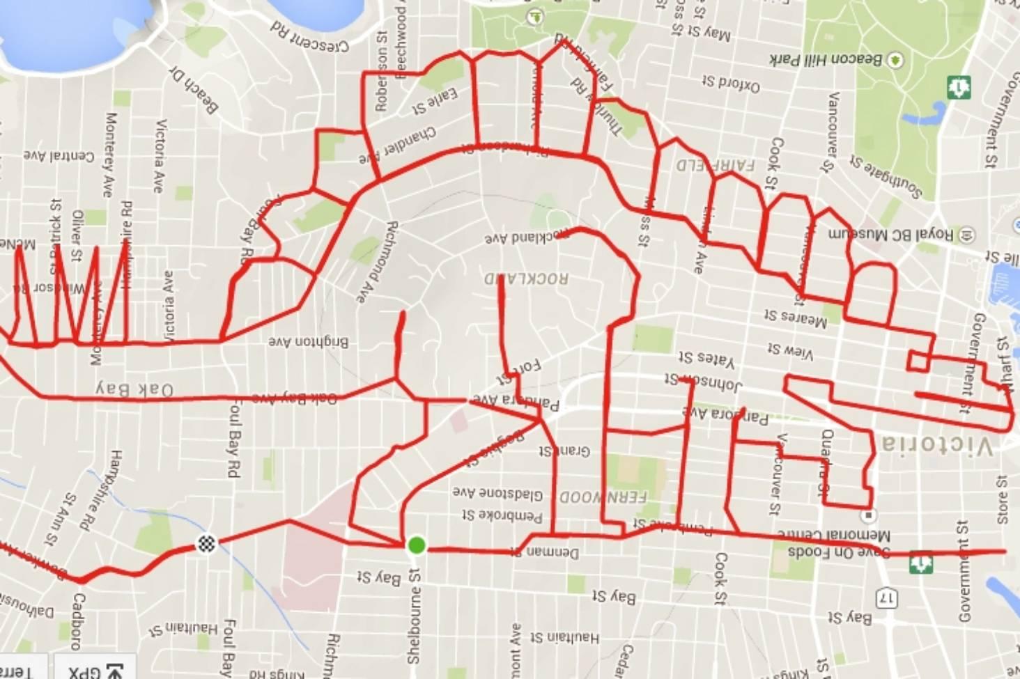 Tegn med GPS - doodles og Strava kunst