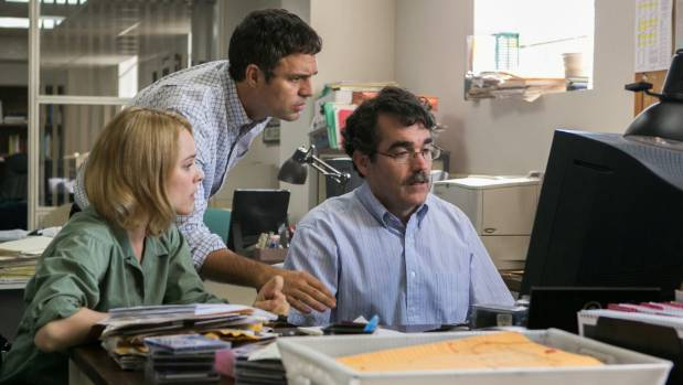 Mark Ruffalo, Rachel McAdams and Brian D'Arcy James star in Spotlight, a movie about the investigative journalism that ...