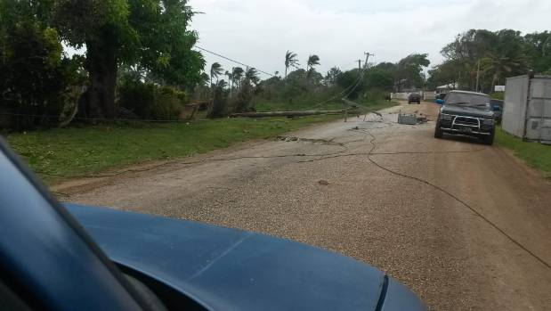Power was put out in many parts of Tonga owing to damage caused by Cyclone Winston.