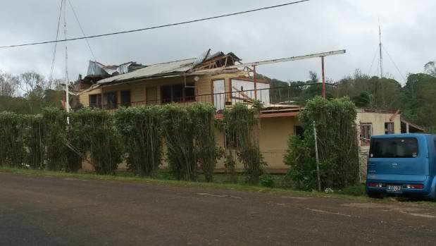 Damage to a military base in Vava'u.