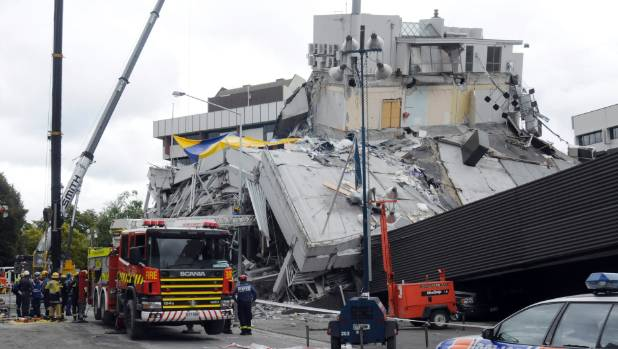 Damage from the 2011 earthquake in Christchurch.