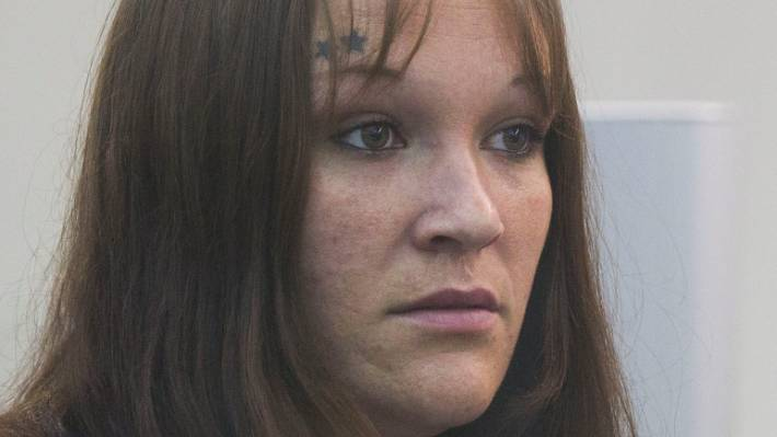 Kelly Crook At Her Sentencing In The High Court At Wellington On Thursday For Being An