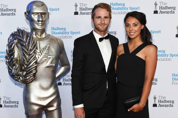 Kane Williamson and Sarah Raheem at the 53rd Halberg Awards.