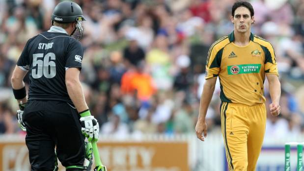 Mitchell Johnson and Scott Styris were involved in an ugly incident in 2010.