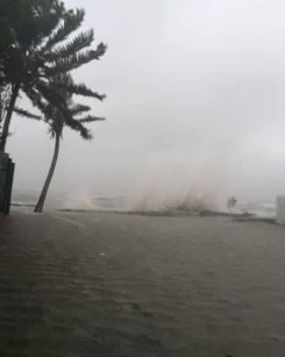 Waves and flooding swept Fiji's islands.