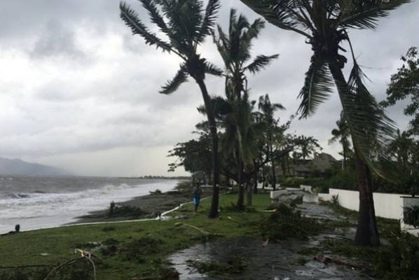 Damage at the Sofitel resort in Denerau.
