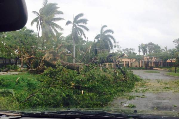 Fijians face a long clean up after Cyclone Winstone. This photo was taken on  Denerau Island.