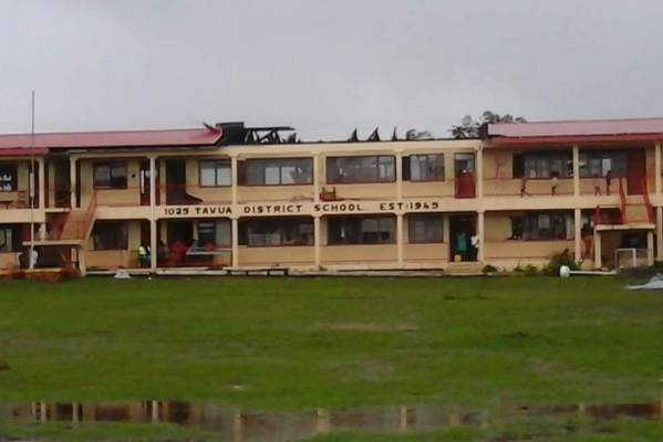 Damage to a school in Tavua.