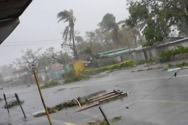 Damage in the town of Tavua.