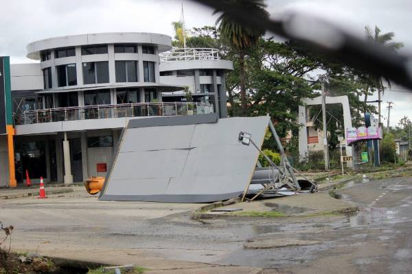The extent of damage after Cyclone Winston in Nadi.