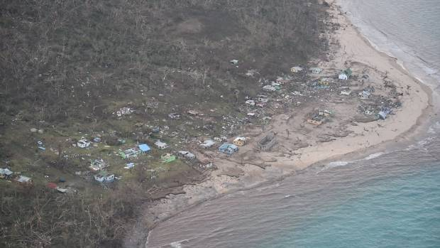 Many homes were completely destroyed by Cyclone Winston.