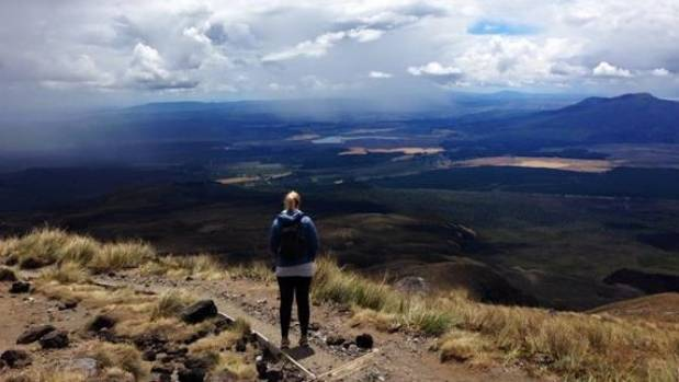 Looking out over Tongariro National Park, New Zealand