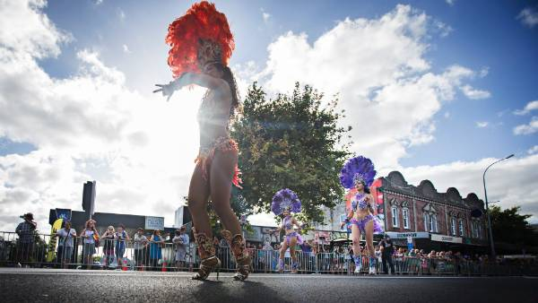19022016 News Photo: CHRIS MCKEEN/FAIRFAX NZThe Pride parade was held along Ponsonby Road celebrating the amendment ...