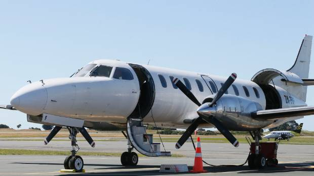 An Airwork metroliner now being used by Originair at Nelson Airport.