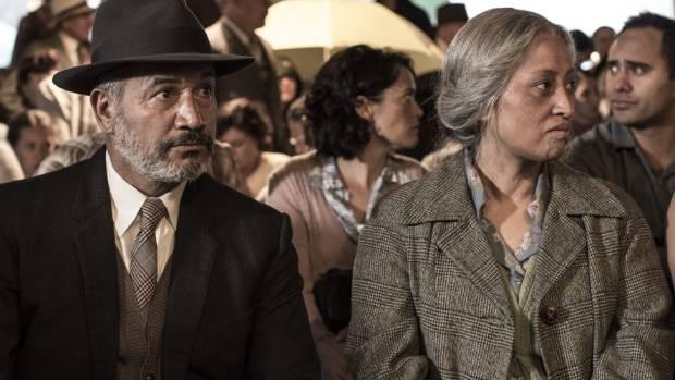 Temuera Morrison and Nancy Brunning in Mahana.