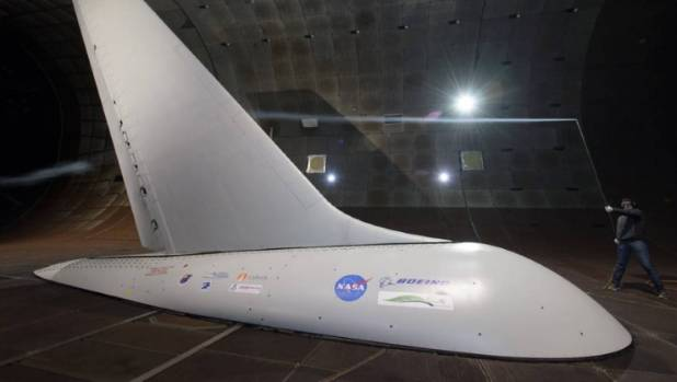 Researchers with NASA's Environmentally Responsible Aviation project co-ordinated wind-tunnel tests of an Active Flow ...