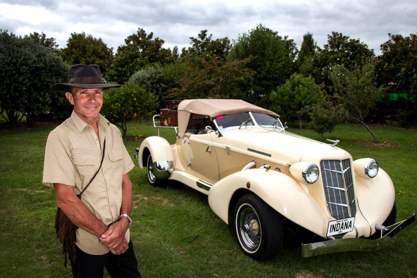 Indiana Jones car from the Temple of Doom found in New