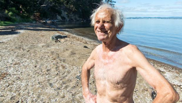 Eric Anderson has swum at Kauri Point all his life and has never before encountered a leopard seal.