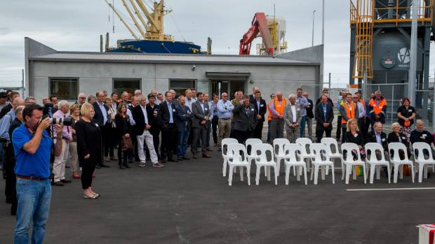 About 70 people were at the site for the official opening on Thursday.