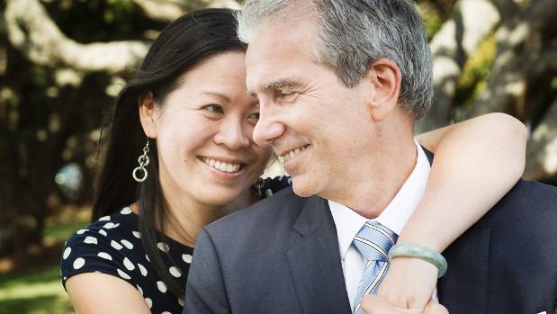 John Palino, who on Monday will announce his mayoral campaign, with his partner Rose Li.