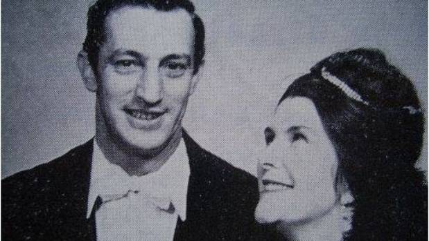 Terence Burtenshaw in the 1960s production Can Can, with Val Dredge.