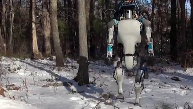 Robot company Boston Dynamics has developed a new version of its humanoid robot, Atlas, which can walk in snow, pick up ...
