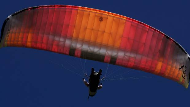 United States pilot Erin Riley negotiates the air currents during her competitive debut at the national paragliding ...