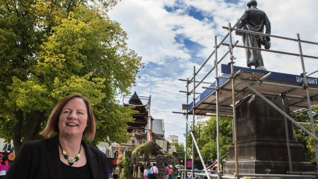 Katie Pickles didn't want John Godley's statue returned to Cathedral Square.