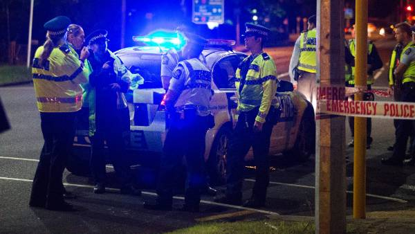 A major police operation was launched on Tuesday after a tied-up woman jumped from a car in Papatoetoe.