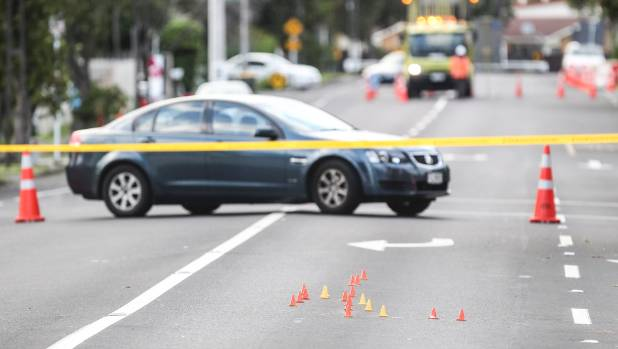 Huia Rd remained cordoned off for part of Wednesday.