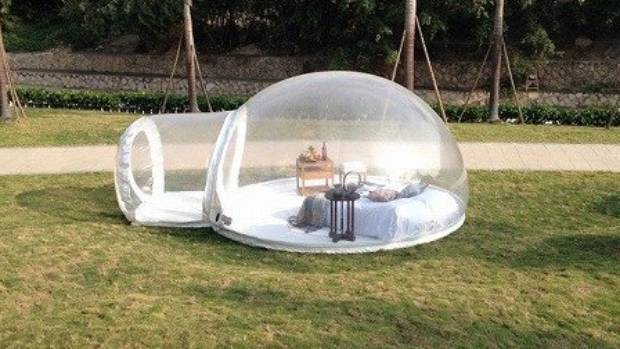 The Bubble Tent provides a portable gl&ing experience. & The transparent tent that lets you sleep beneath the stars | Stuff ...