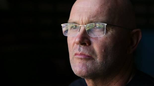 New Zealand cricket great Martin Crowe in Sydney on the eve of the Cricket World Cup final last year.