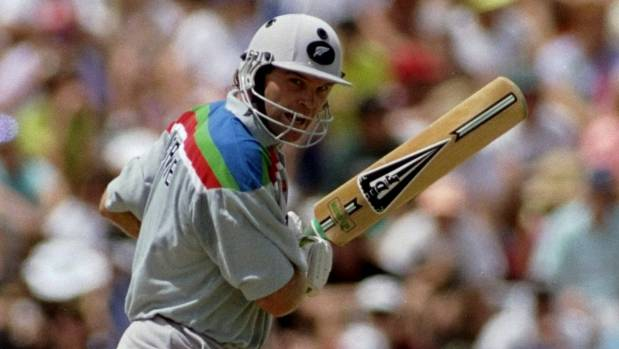 NZ batsman Martin Crowe at Eden Park.