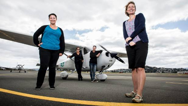 Bronwyn Scott, Josie Leckie, Janine Erb and Rochelle Fleming want more women to take the the skies.