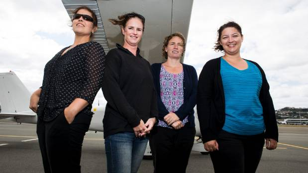 Wellington Aero Club members (from left) Josie Leckie, Janine Erb, Rochelle Fleming and Bronwyn Scott are proud their ...