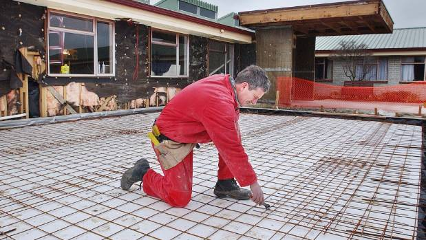 Steel mesh is used for reinforcement in driveways and concrete floor slabs.