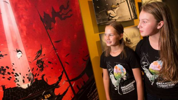 Bella Barber, 13, left, and Maddie Gillespie, 12, are among eight junior curators chosen for Te Papa's DreamWorks ...