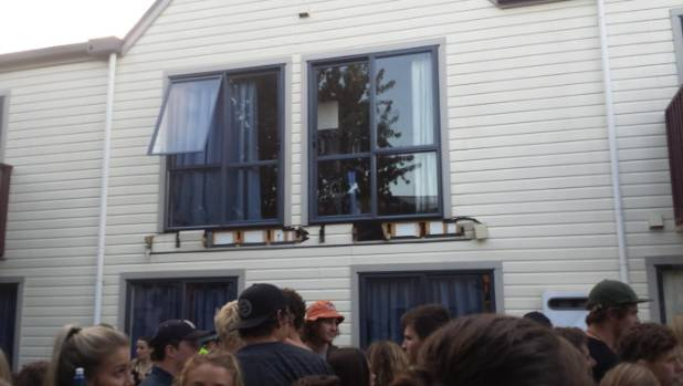 Up to 20 people were on the balcony when it collapsed at a surprise Six60 gig in Dunedin.