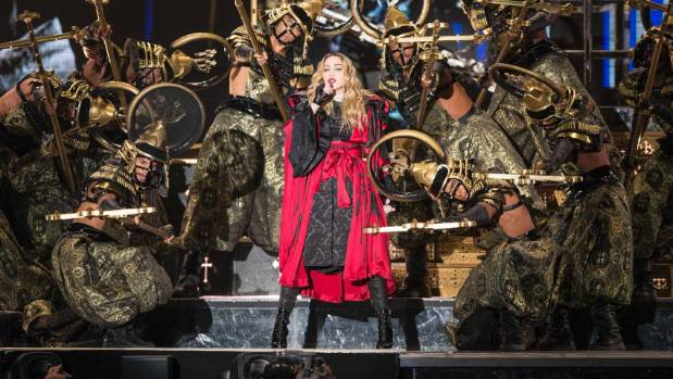 Madonna performs her Rebel Heart Tour at the Vector Arena in Auckland - her first concert in New Zealand.