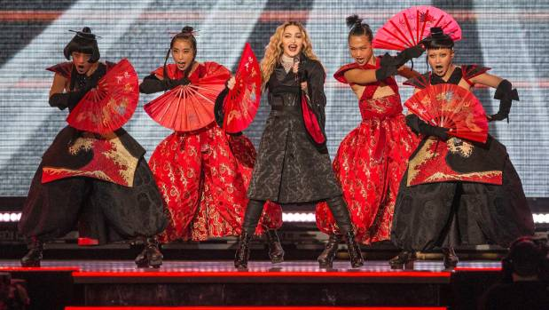 Madonna lights up the Vector Arena.