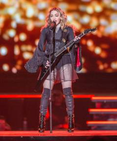 Madonna also rocked out her guitar at the Vector Arena.