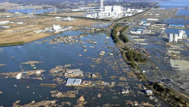 The tsunami-devastated Shinchi town in Fukushima prefecture in March 12, 2011.