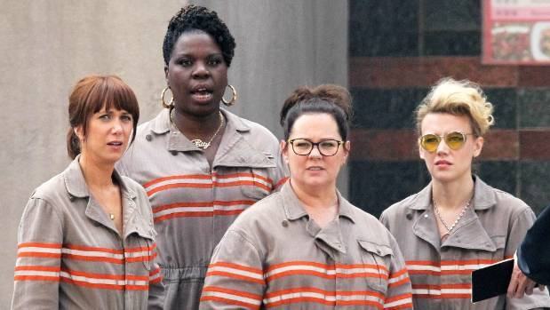 The new Ghostbusters, with Leslie Jones.
