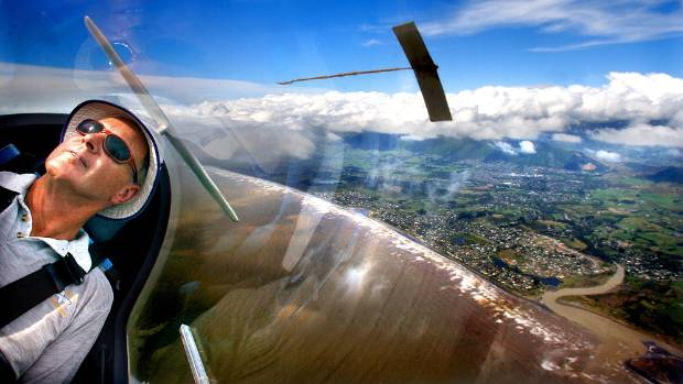 Glider pilot Mike Till banks the Wellington Gliding Club's two-seater over Paraparaumu. The club is moving to Wairarapa ...