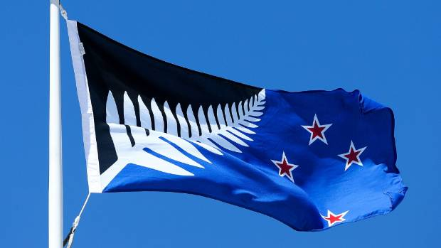 WELLINGTON, NEW ZEALAND - OCTOBER 12:  Silver Fern (Black, White and Blue), by Kyle Lockwood, flies on top of the ...